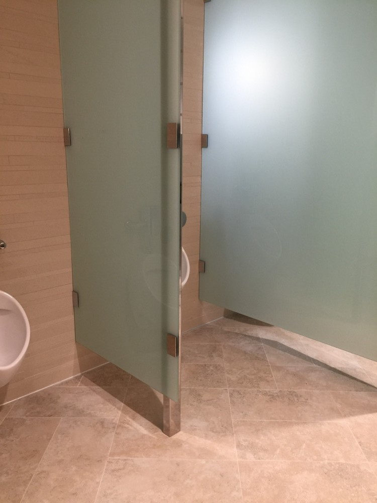 Frameless Bathroom Partitions Tempered Laminated Glass Saratoga - Laminate bathroom partitions