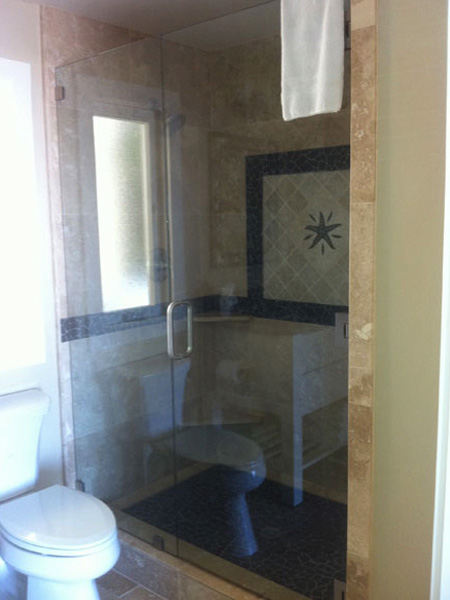 Hotel Heavy Glass Frameless Shower Door And Enclosure