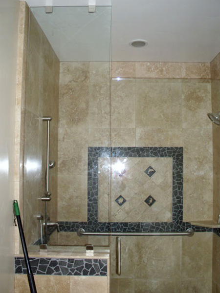Hotel Heavy Glass Frameless Shower Door And Enclosure Hotel